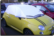 sun shade car cover Fiat 500